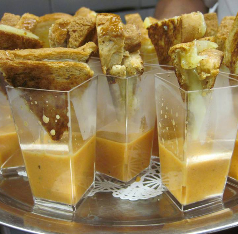 Grilled Cheese & Tomato Soup Shooters - Catering Menu